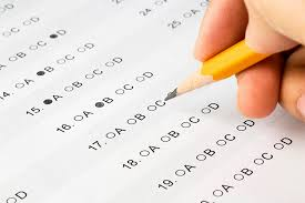 multiple choice answer sheet for the 11+